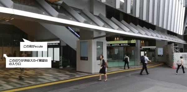 渋谷スクランブルスクエア1F広場前
