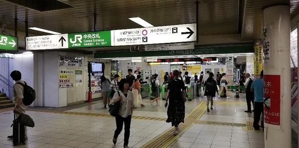 JR渋谷駅の中央改札