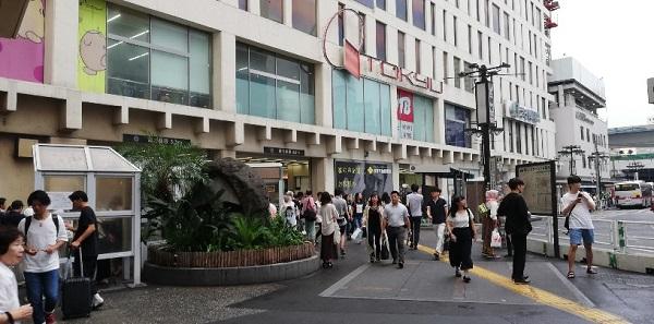 JR線渋谷駅の西口(モヤイ像前)