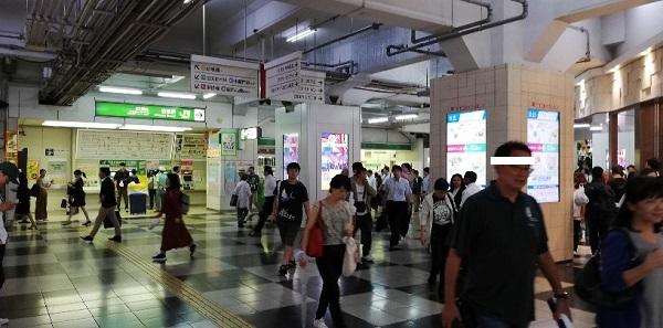 渋谷駅の東急百貨店東横店内通路(玉川改札前)