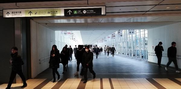 渋谷ヒカリエとスクランブルスクエアを結ぶデッキ