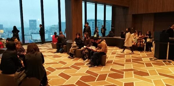 渋谷スクランブルスクエアの12F展望スペース(待ち合わせ場所)