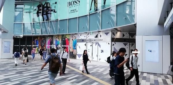 渋谷スクランブルスクエアの3Fエントランススペース