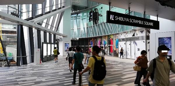 渋谷スクランブルスクエア東棟3F通路