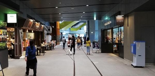 渋谷ストリーム施設内の通路