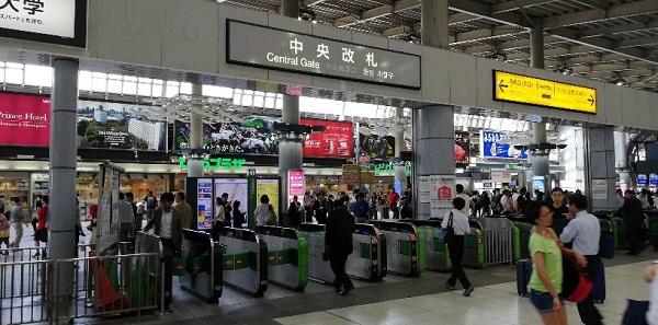 JR線品川駅の中央改札