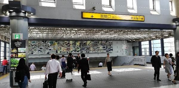 品川駅の高輪口(西口)
