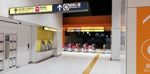 銀座線渋谷駅の明治通り方面改札