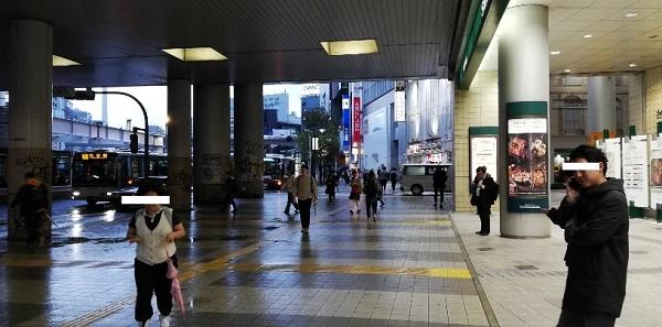 京王井の頭線渋谷駅マークシティの入り口(高架下)