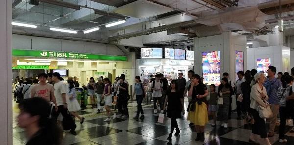 JR線渋谷駅の玉川改札前