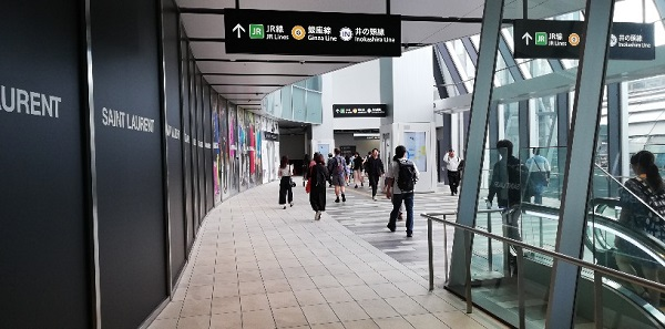 スクランブルスクエア東から渋谷フクラスへ向かう