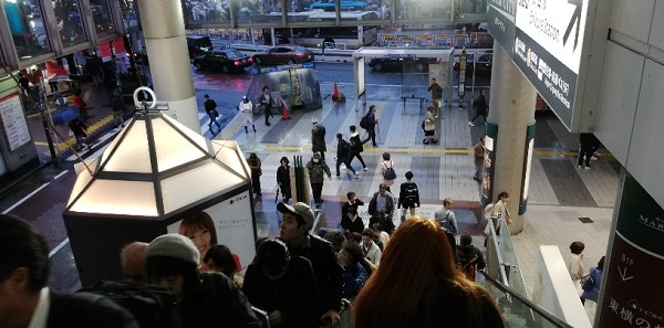 渋谷駅井の頭線、マークシティ内のエスカレーター