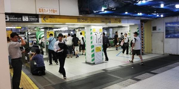 JR渋谷駅の南改札前