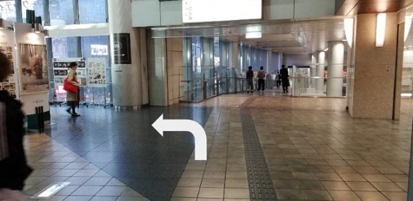 渋谷駅、井の頭線のマークシティ内通路