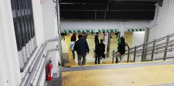 渋谷駅のJR中央改札まえの段差