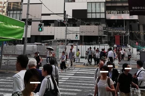 渋谷フクラス前の信号(横断歩道)