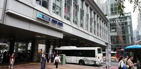 渋谷駅マークシティ前の高架下