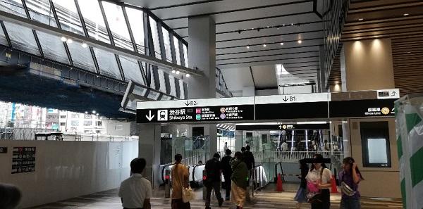 渋谷スクランブルスクエア東棟の1F
