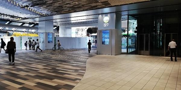 渋谷スカイ専用エレベーター前(1Fエントランス)