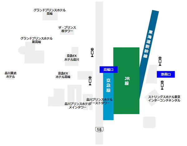 品川駅周辺のホテルマップ