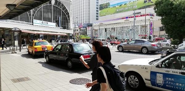 品川駅の高輪口(タクシー乗り場前)