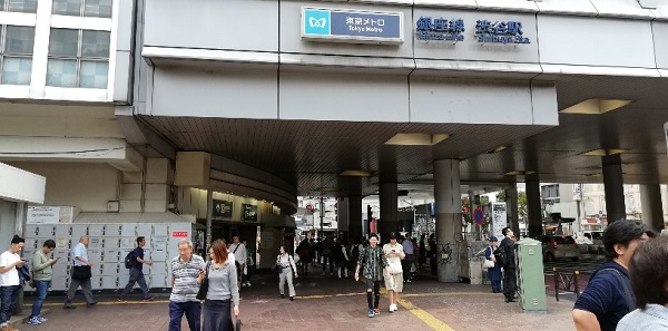 銀座線渋谷駅の高架下