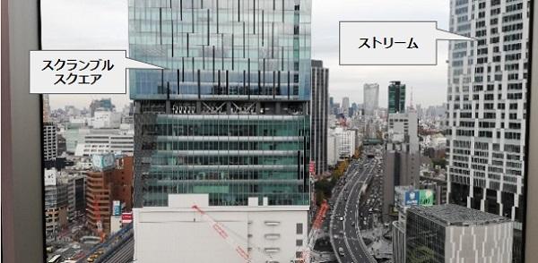 渋谷フクラス17Fシブニワからの眺望