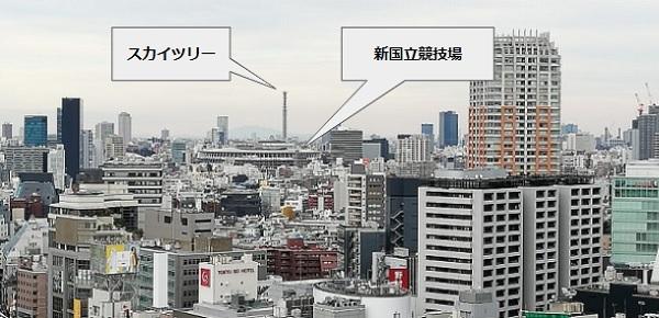 渋谷フクラス展望施設17Fからの景色