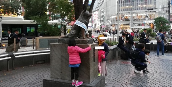 渋谷ハチ公広場のハチ公銅像