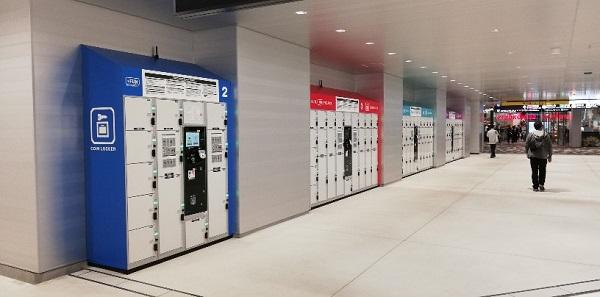 渋谷駅東口地下広場のロッカー
