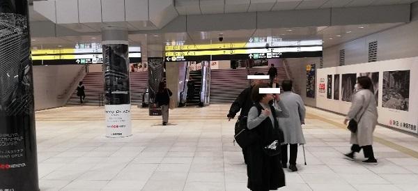 渋谷駅東口地下広場の通路