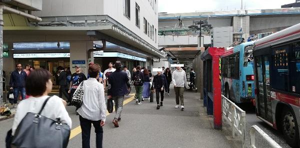 渋谷駅西口バスターミナル前