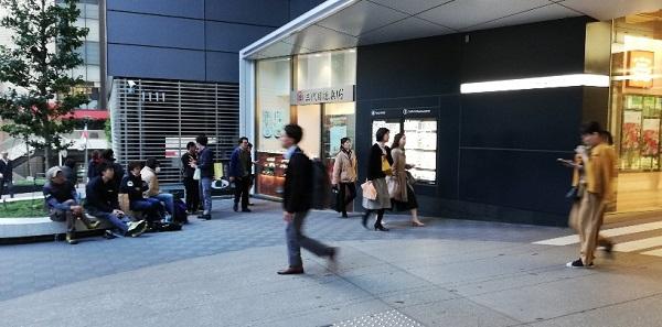 渋谷ヒカリエ1F3代目徳兵衛前