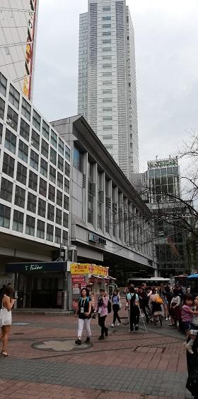 渋谷マークシティ(ハチ公広場から)