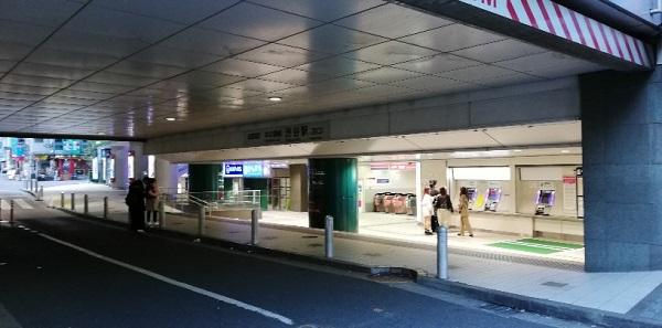 京王井の頭線渋谷駅の西口改札出た景色