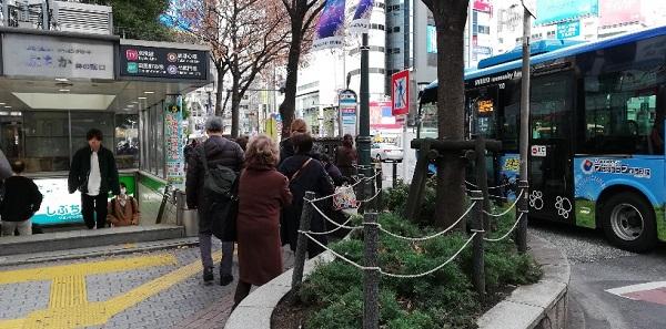 渋谷駅西口バス乗り場1