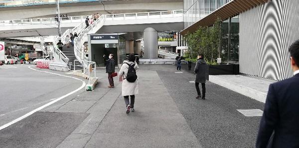 渋谷駅C3出口(スクランブルスクエアゴンチャ前)