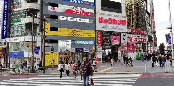 渋谷駅待ち合わせ場所(東口ビックカメラ前)