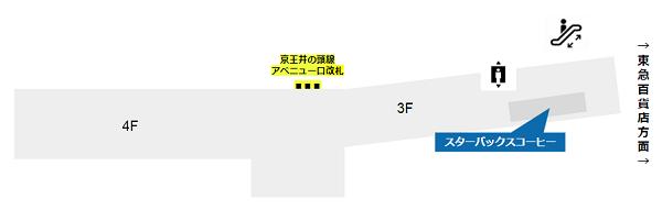 渋谷駅の待ち合わせ場所(マークシティのスターバックスコーヒー)