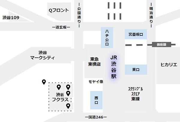 渋谷駅待ち合わせ場所(フクラス)