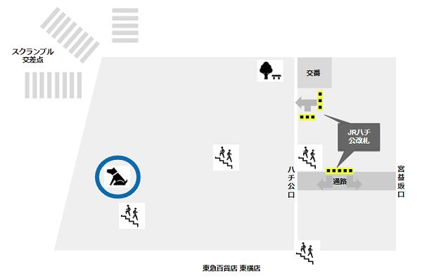 渋谷駅の待ち合わせ場所(ハチ公銅像前)