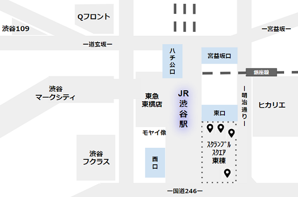 渋谷駅待ち合わせ場所(スクランブルスクエア東)