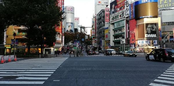 渋谷駅のスクランブル交差点