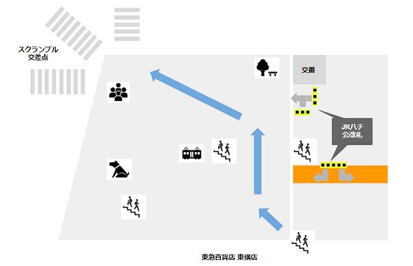 渋谷駅ハチ公広場マップ