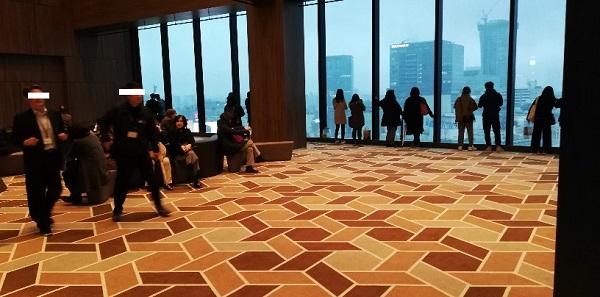 渋谷スクランブルスクエア12Fの待ち合わせスペース