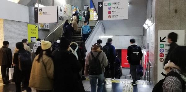 渋谷東急百貨店東横線内の階段