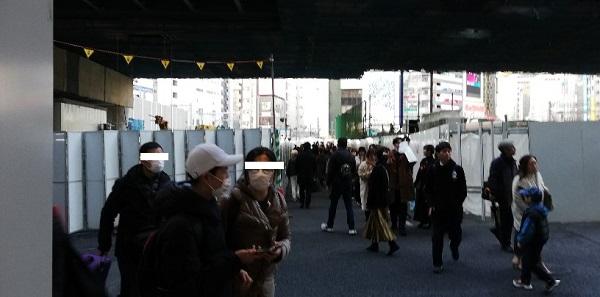渋谷駅東口バスターミナル高架下