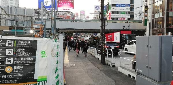 渋谷駅JR線の高架下