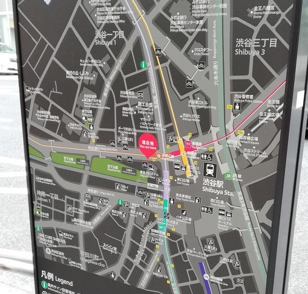 渋谷駅構内図map(ビックカメラ前)