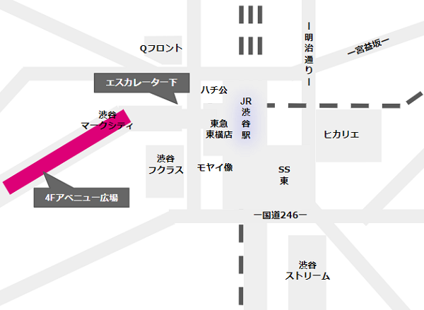 渋谷駅待ち合わせ場所(京王井の頭線の周辺)